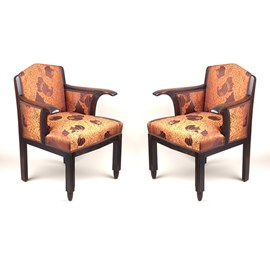 Set of 2 Authentic Amsterdam School Armchairs