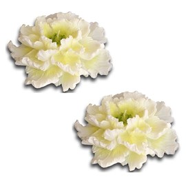 Set of 2 Candles White Peony