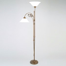 Uplighter with Reading Lamp Jugendstil Cow Parsley
