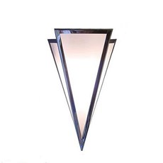 Wall Lamp Pointy Medium in Shiny Nickle and Opal Glass