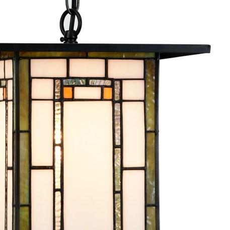 Tiffany Pendant Light Frank Lloyd Wright Orange Detail