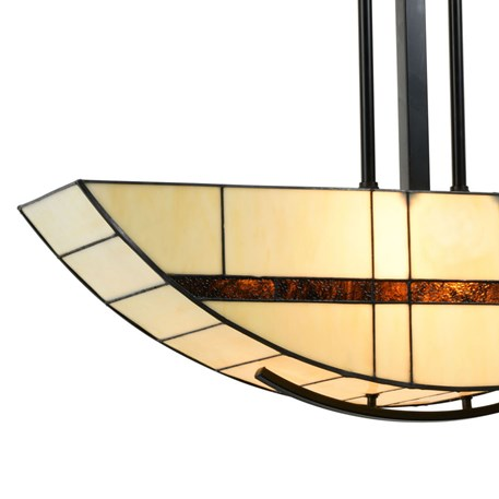 Tiffany Pendant Light Geometric Detail