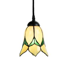 Tiffany Pendant Lamp Lovely Flower Yellow