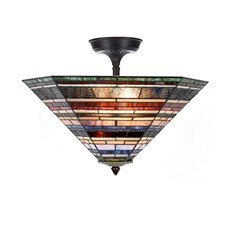 Tiffany  Elongated  Ceiling Lamp Industrial