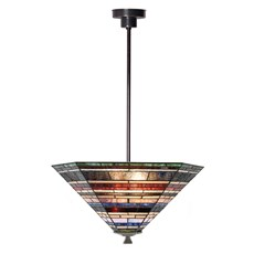 Tiffany Angular Pendant Lamp Industrial