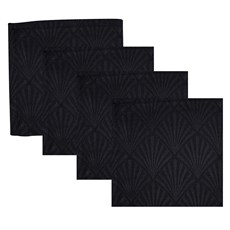 Set of 4 Jacquard Art Deco Napkins Gatsby