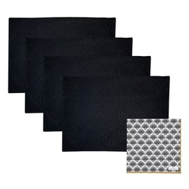Set of 4 Jacquard Placemats & 20 Paper Napkins | Gatsby