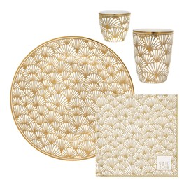 Gift Dinnerware set Golden Ginkgo