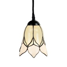 Tiffany Pendant Lamp Lovely Flower White