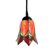 Tiffany Pendant Lamp Lovely Flower Red