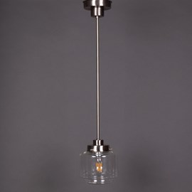 Pendant Lamp Stepped Cylinder small Transparent