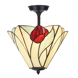 Extended Ceiling Lamp Tiffany Tulip