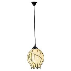 Tiffany Pendant Lamp Nature Open on Linen Cord