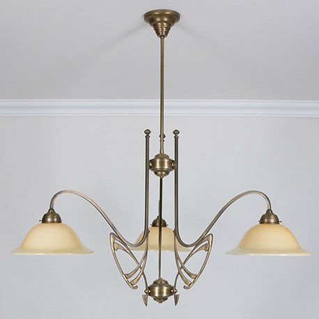Art nouveau chandeliers victor horta 3 lichts kroonluchter elegantie aloadofball Image collections